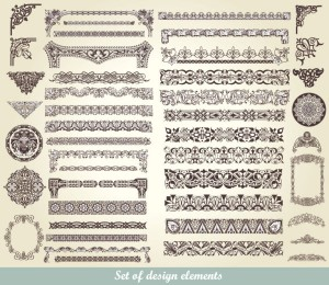 Free exquisite lace pattern vector material