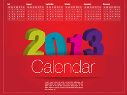 2013 calendar vector design-th