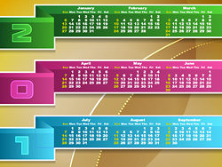 Calendar 2013 vector design-thu