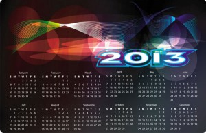 Creative 2013 calendar grid vector