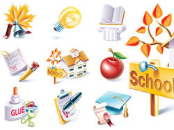 School-theme-icon-vector