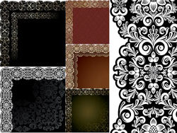 File Style: EPS format Keywords: European pattern lace border shading wove patterns Gyrosigma Vector