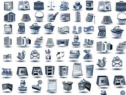Blue-gray-icon-vectors