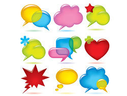 Vector colorful dialogue bubble