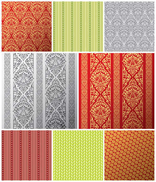 European tile pattern vector material