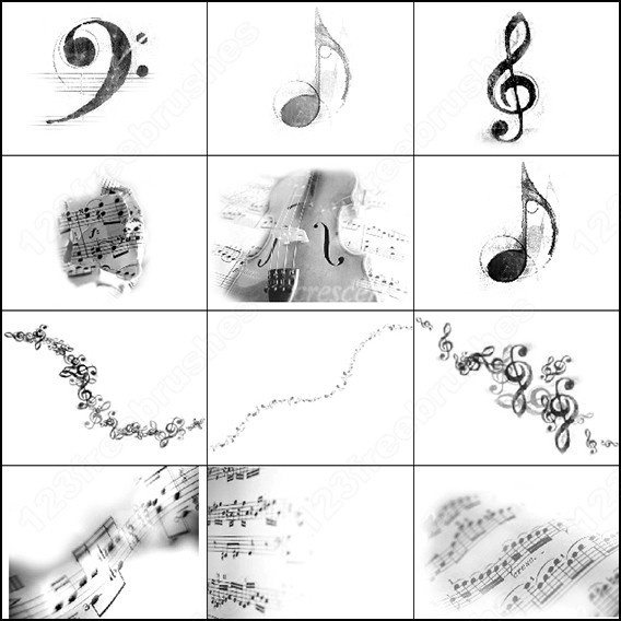 Photoshop Music brushes