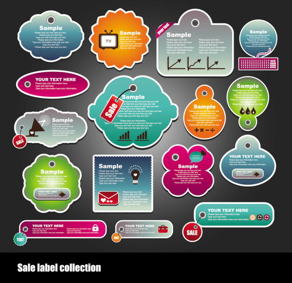 Free design label vector - 1