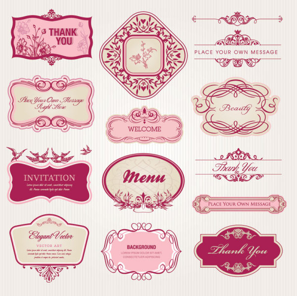 Exquisite-European-style-pattern-label-vector-1