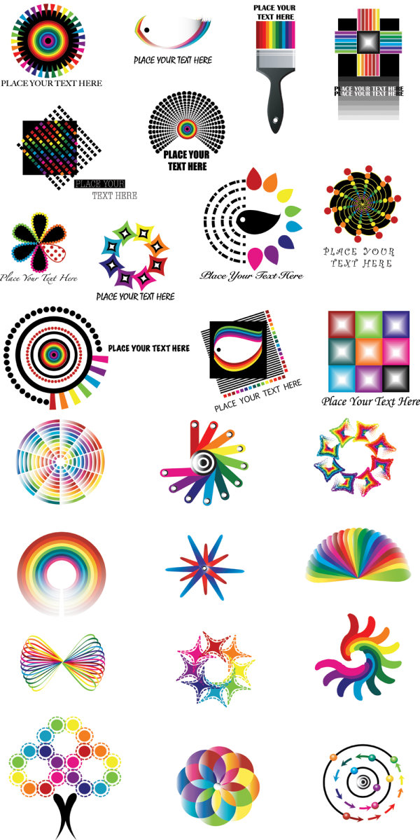 Dynamic color logo pattern vector