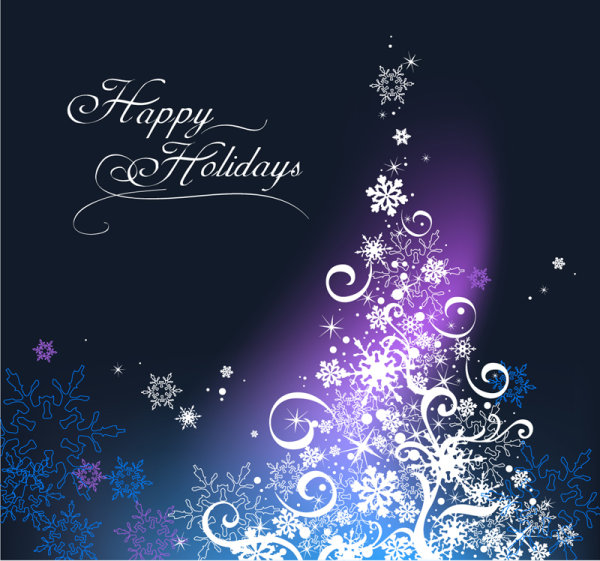 Happy Holiday Merry Christmas Vector design