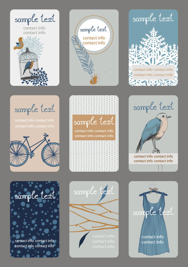 Illustration cards vector