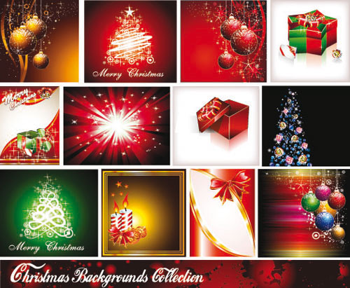 Star-studded Christmas background vector