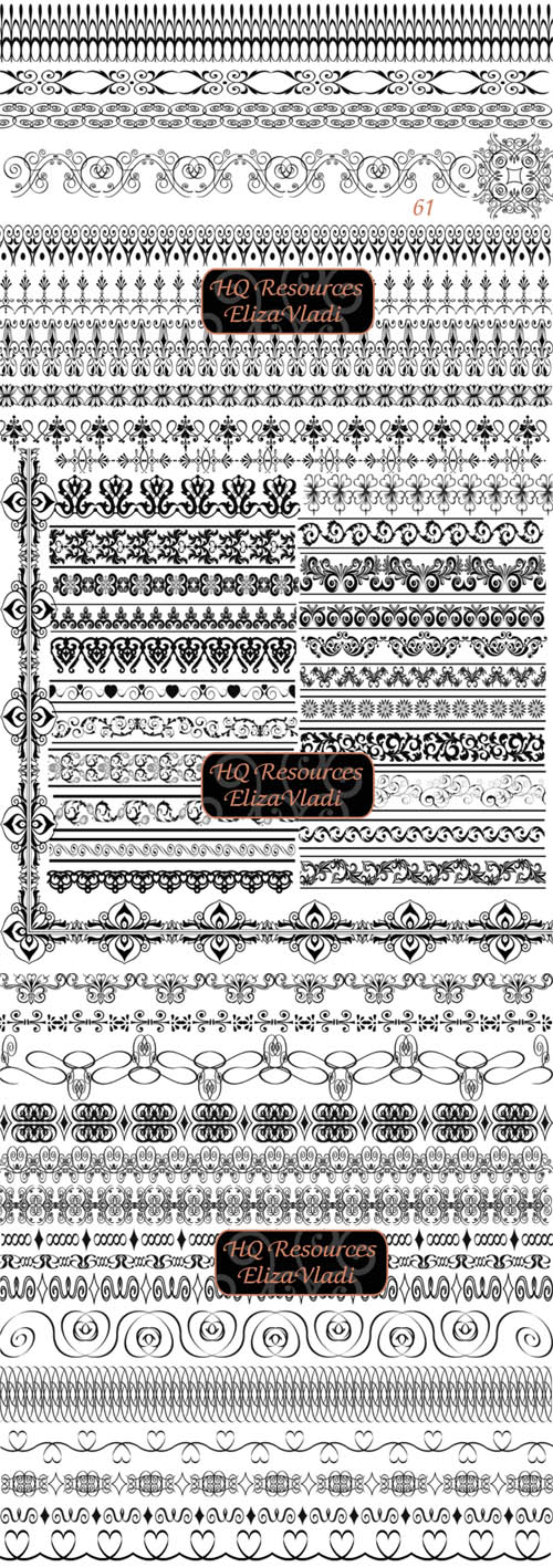 Unique pattern PS brush border