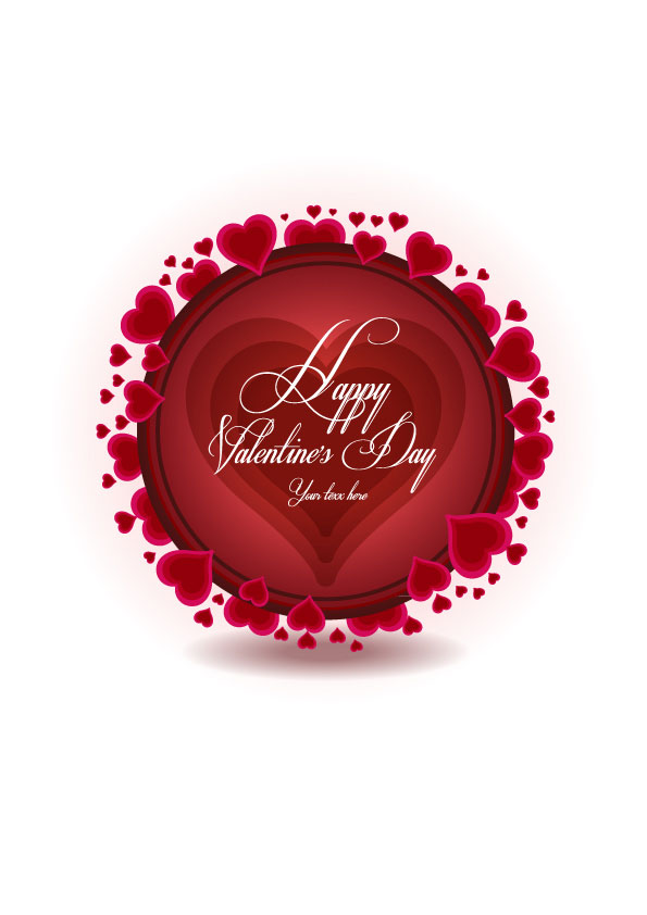 Beautiful Valentine's Day background vector
