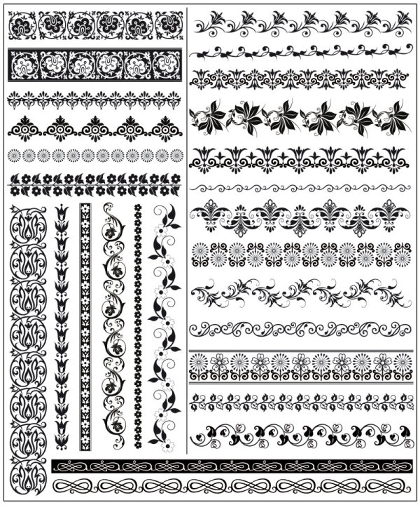 Beautiful lace pattern vector 05
