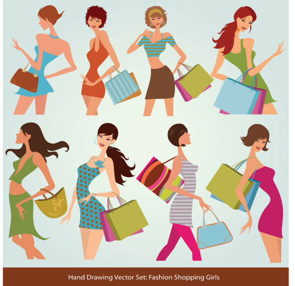 Fashion Girls Style Vector