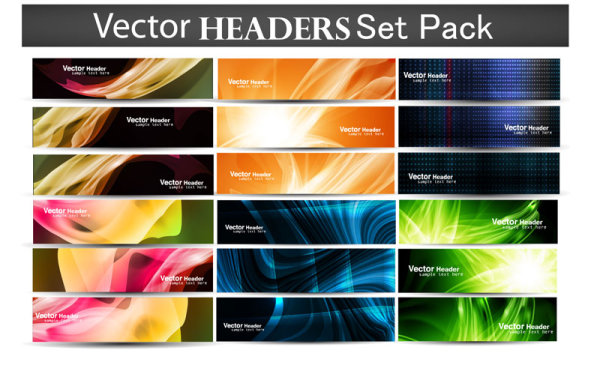Vector headers, Baner vector design-02