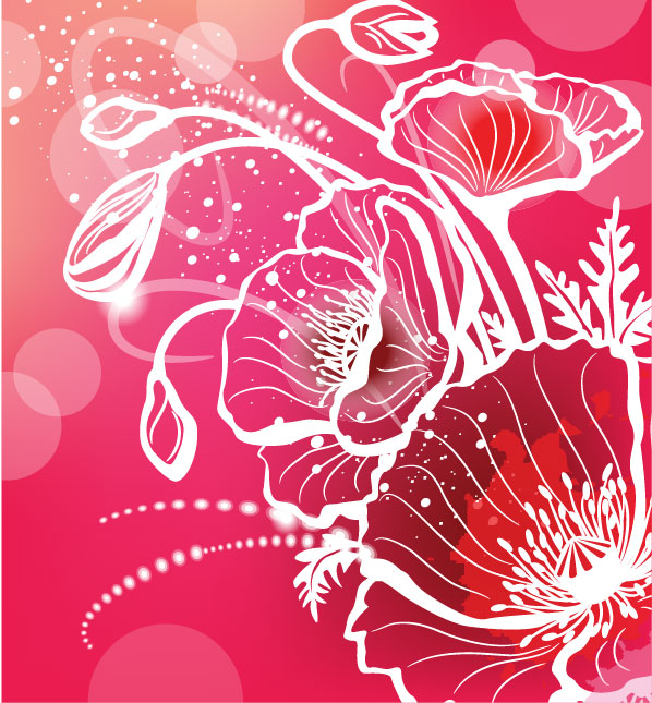 Gorgeous pattern background vector