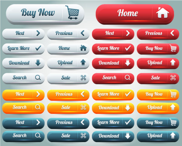 Sophisticated set of web buttons Meeting vector design-02