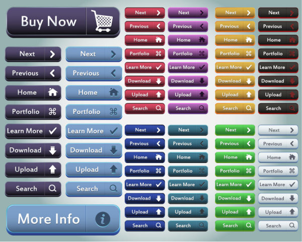 Sophisticated set of web buttons Meeting vector design