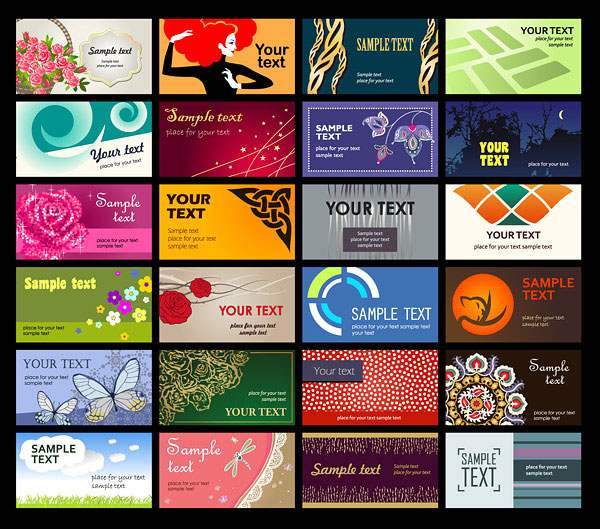 A wide range of card template vector material -1