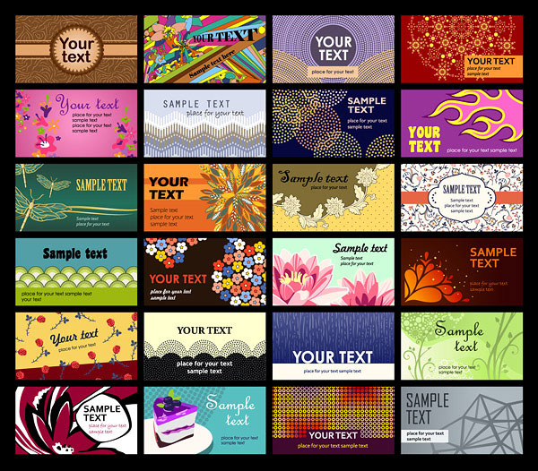A wide range of card template vector material -2
