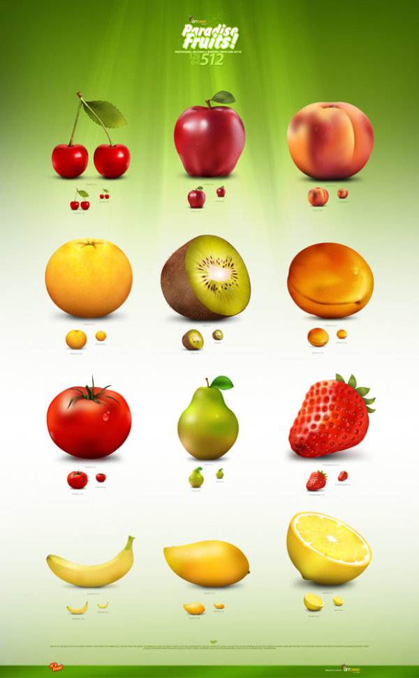 Delicate fruit icon free