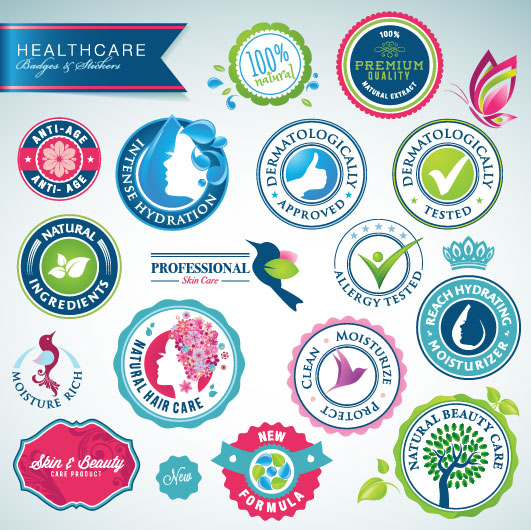 Beautiful stickers vector design