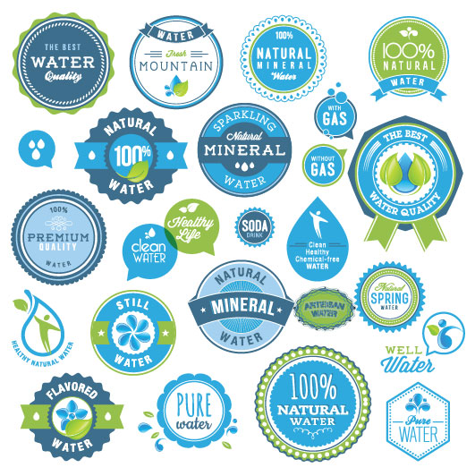 European beautiful labels vector