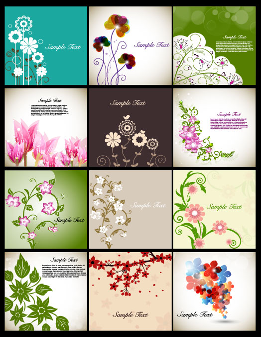 Classic flowers illustrator vector