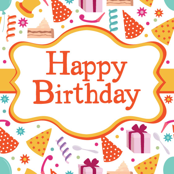 Birthday card vector material